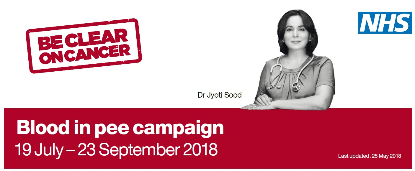 Blood in pee campaign